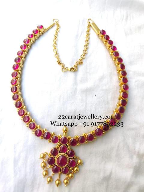 Pretty Necklace in Silver Kundan Jhumkas