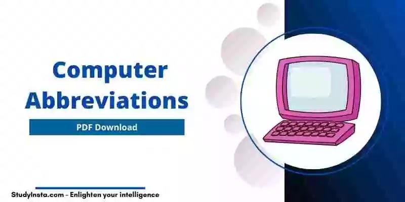 Computer Abbreviations -PDF Download