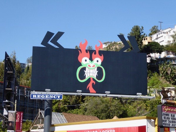 Samurai Jack season 5 Aku special extension billboard