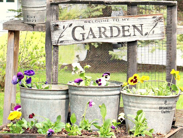 DIY Rustic Garden Sign