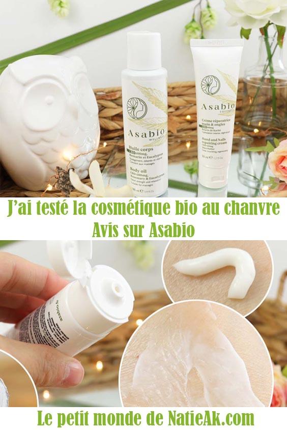 cosmétique bio au chanvre Asabio avis