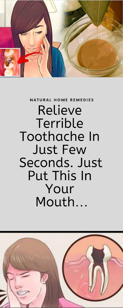 Relieve a Terrible Toothache In Just a Few Seconds With This Homemade Remedy!