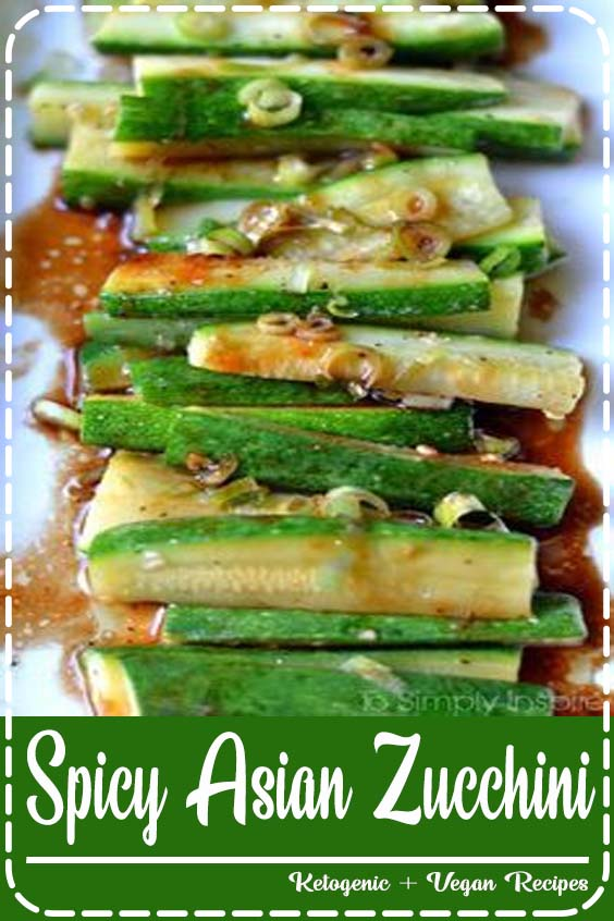 Fresh Chillies add an extra bite to the lovely sweet sauce too Spicy Asian Zucchini