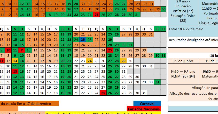 Calendario 2020 Portugal Excel.Eduprofs Calendario Escolar 2019 2020 Em Excel