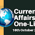 Current Affairs One-Liner: 16th October 2019