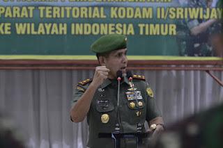 Pangdam Berangkatkan Satgas TER Kodam II/SWJ Ke Wilayah Indonesia Bagian Timur
