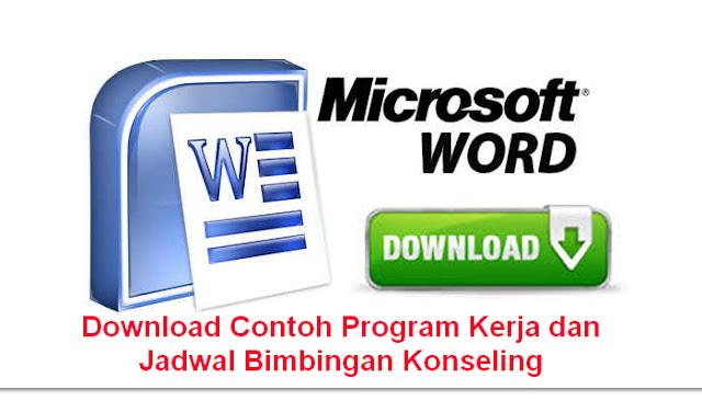 Download Contoh Program Kerja dan Jadwal Bimbingan Konseling