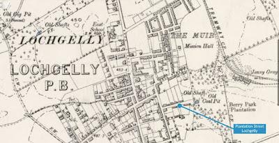 Old map of Plantation Street Lochgelly Fife
