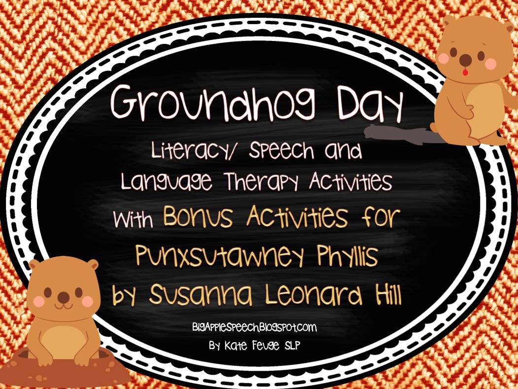 Big Apple Speech Groundhog Day Activities Mega Pack 50
