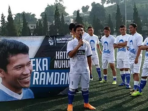 Laga perpisahan Eka Ramdani