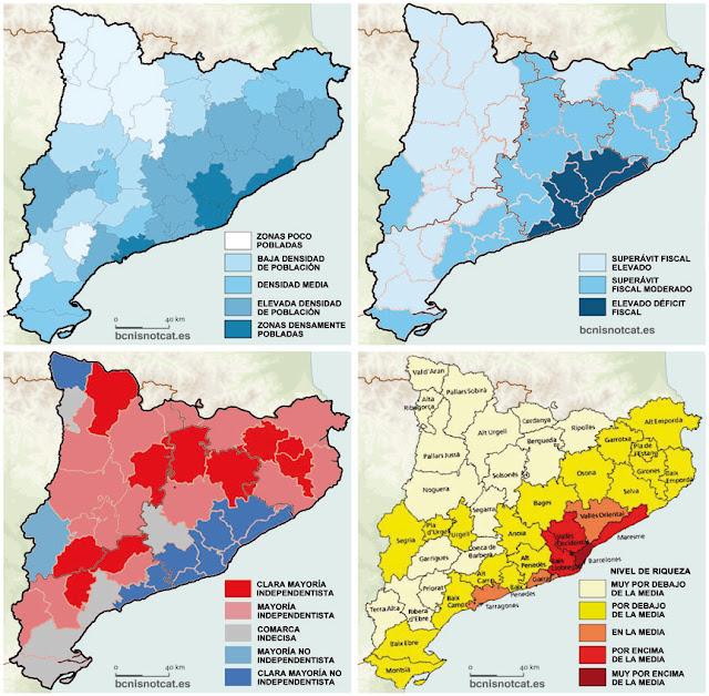 Tabarnia explicada en 4 mapas.