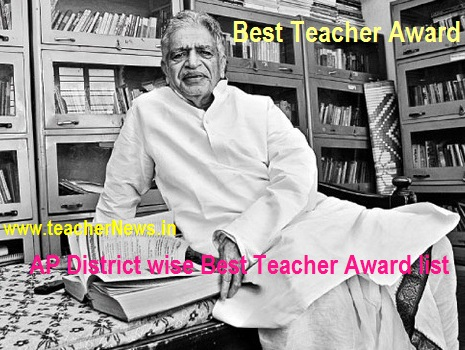 District Best Teacher Award list 2017