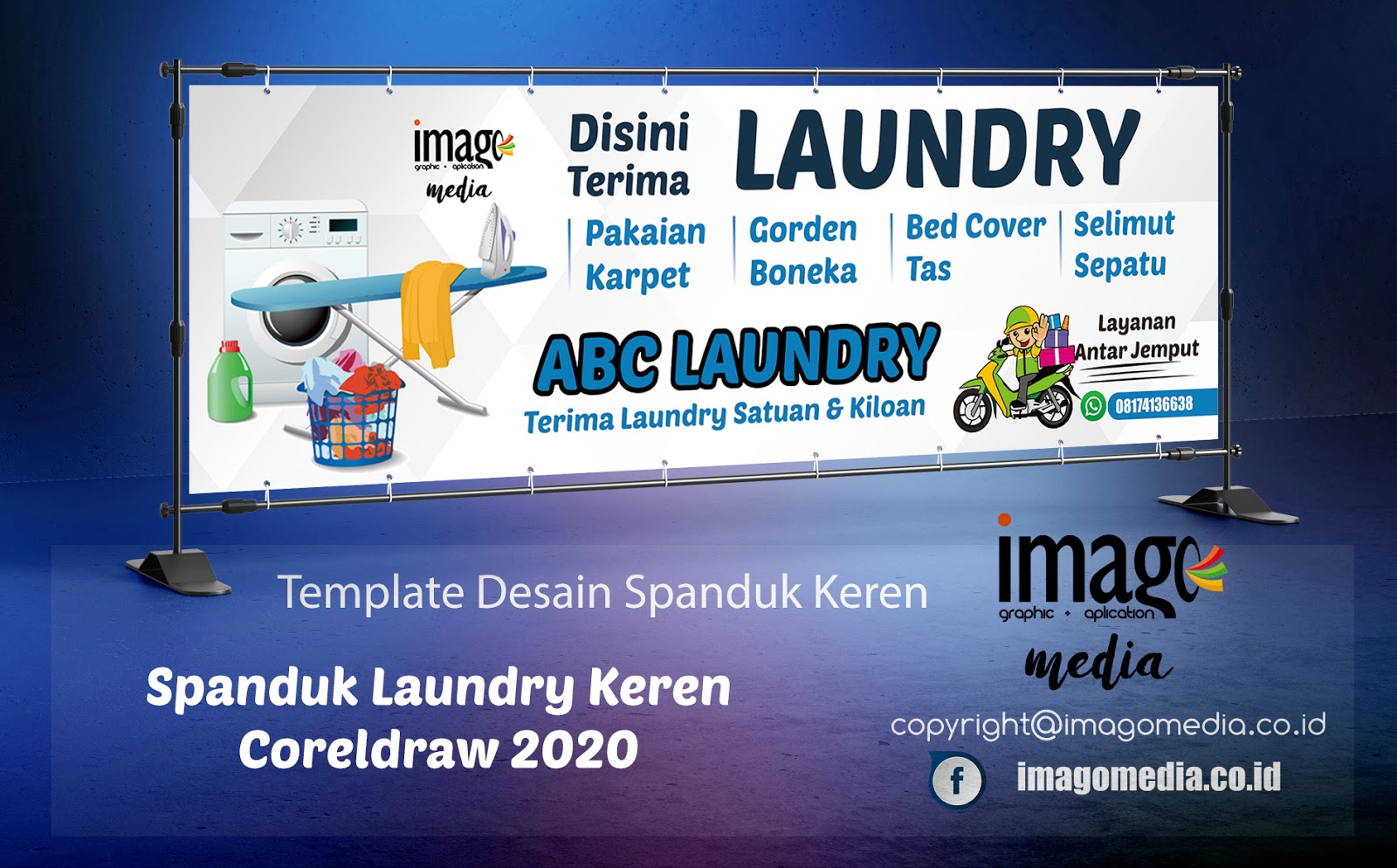 Desain Spanduk Laundry Keren Coreldraw 2020