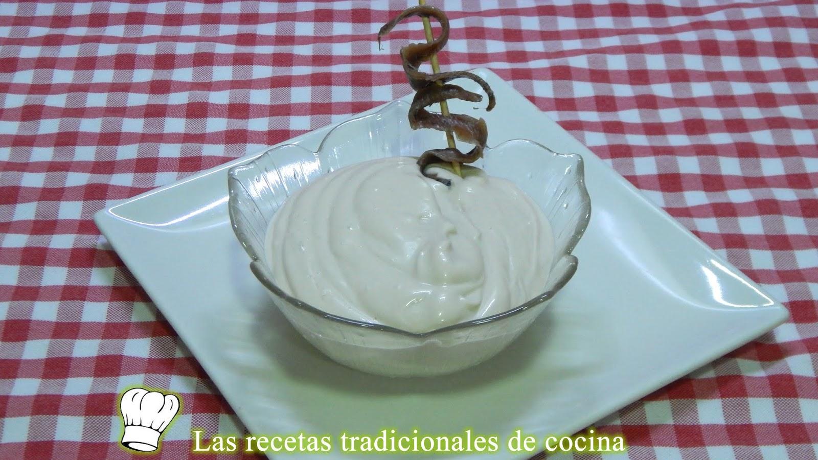 Receta Fácil Y Rápida De Mayonesa De Anchoas