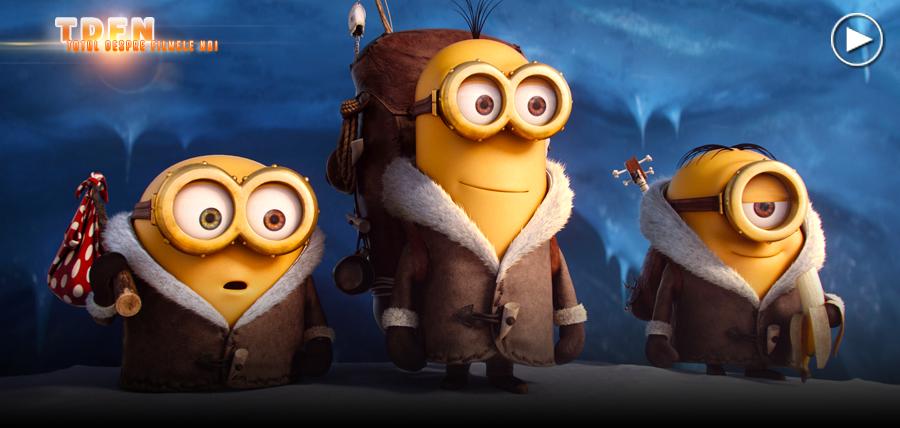 Bob, Kevin şi Stuart în animaţia Minions.