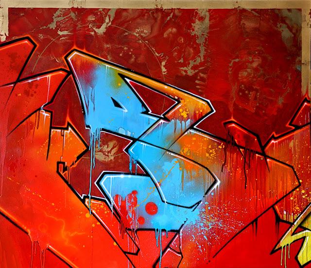 """""""Sans Titre"""" acrylic painting"""