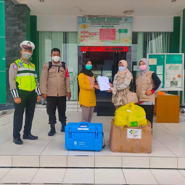 Pengamanan Dan Pengawalan Pendistribusian Vaksin Tahap 3 Di Kecamatan Baamang