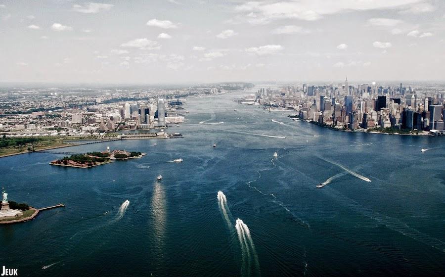 Nueva York a vista de helilcóptero