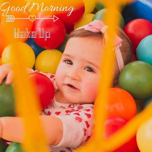 Happy Baby girl  Good Morning Images