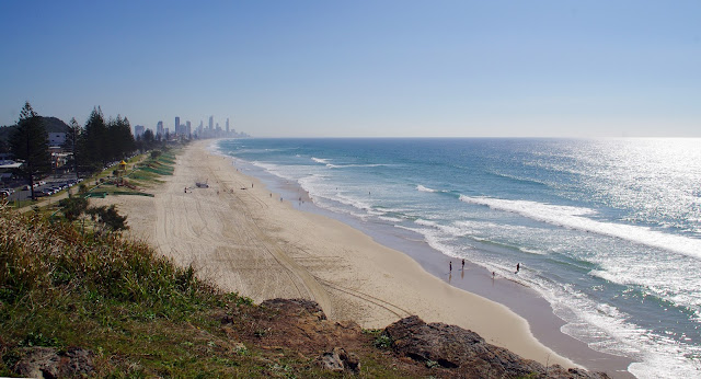 View of Surfers Paradise from Burleigh Heads