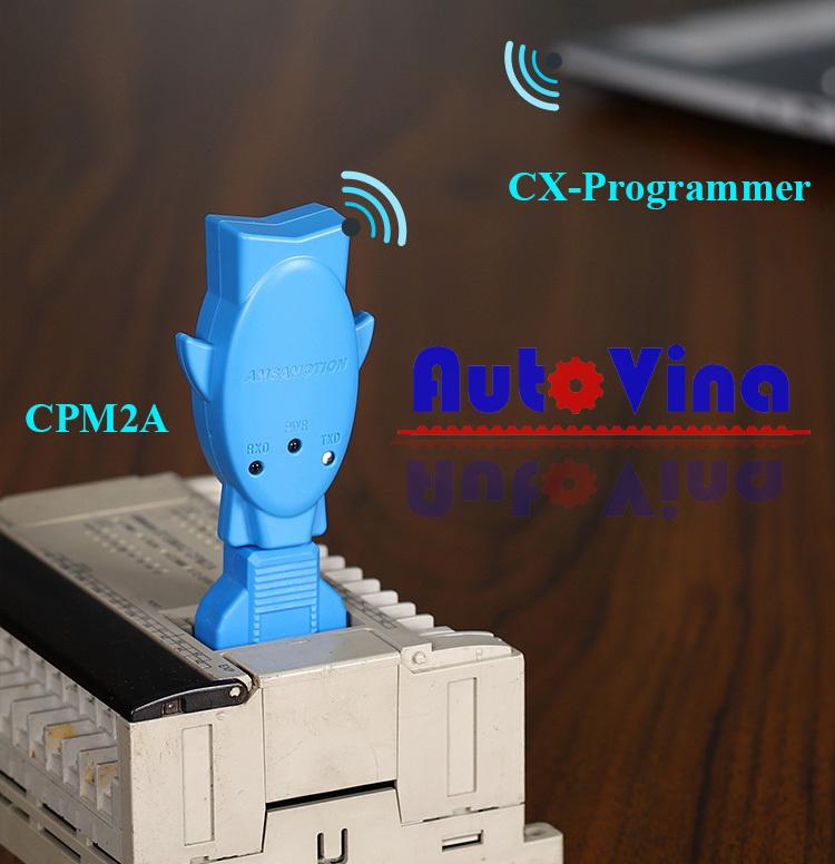 Kết nối PLC Omron CPM2A với máy tính qua bộ phát Wifi-XW2Z-200S-CV