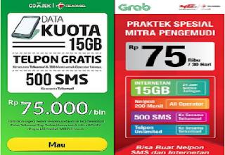 Cara Daftar Paket Internet Gojek Dan Grab Siap Online Rp 75 Ribu 15 GB Nelpon 200 Menit