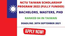 NCTU Taiwan Scholarship 2022