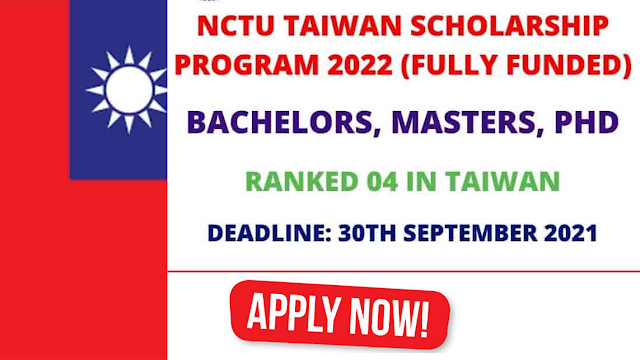 The University Of Taiwan NCTU Scholarship 2022   4000+ Fully Funded Scholarships   Apply - Online