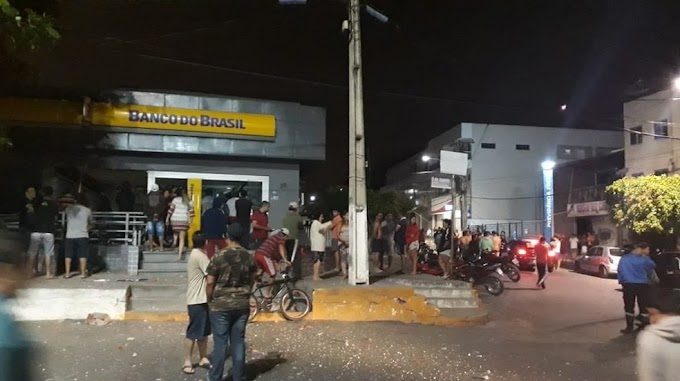 GUARACIABA DO NORTE-CE: Bandidos invadem cidade, atiram contra comércios e explodem agência bancária