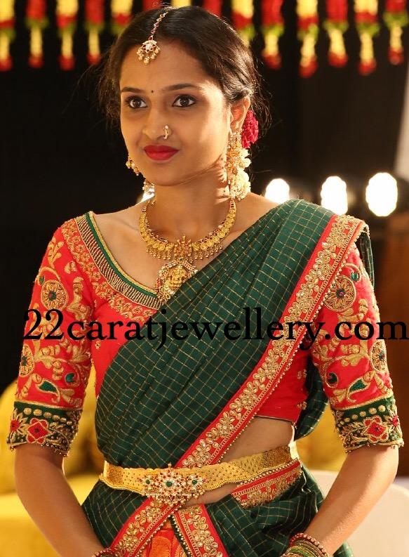 Lakshmi Kante Pachi Work Vaddanam