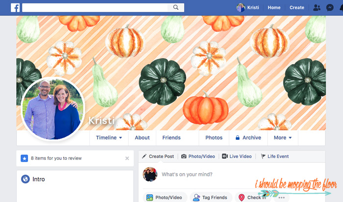 Fall Facebook Timelines
