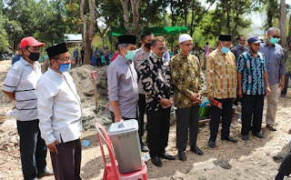 Rumah Quran Muhammadiyah Mulai Dibangun Wawali Bima Letakan Batu Pertama