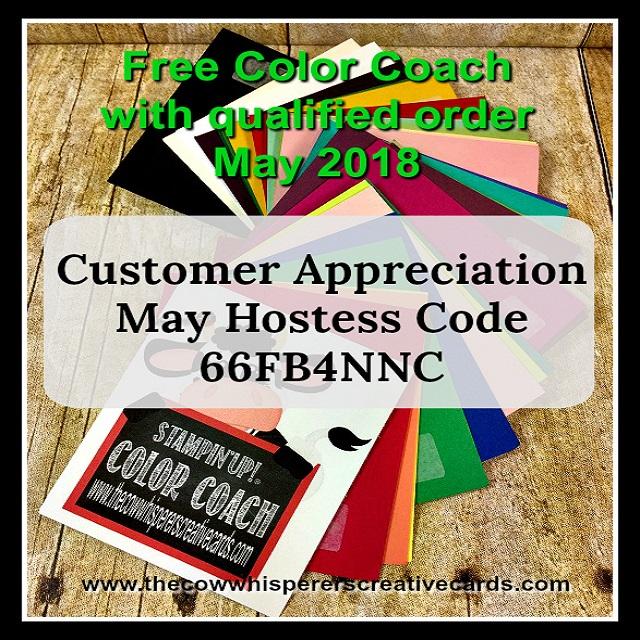 Color Coach, Customer Appreciation, Free, StampinUP