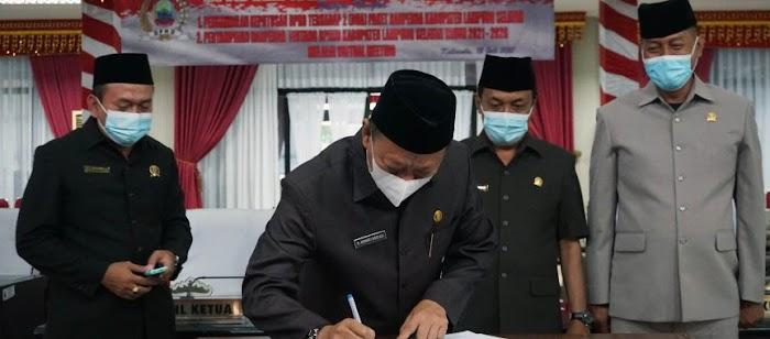 DPRD Lampung Selatan Sahkan Dua Raperda