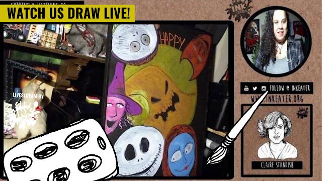 Drawing Halloween Decorations - Nightmare Before Christmas Themed Halloween