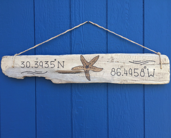 Engraved Driftwood Signs