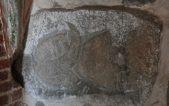 Kamień z reliefem przedstawiającym Świętowita w Altenkirchen koło Arkony na wyspie Rugia
