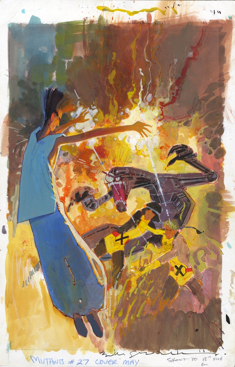 The Dork Review Rob S Room Bill Sienkiewicz New Mutants