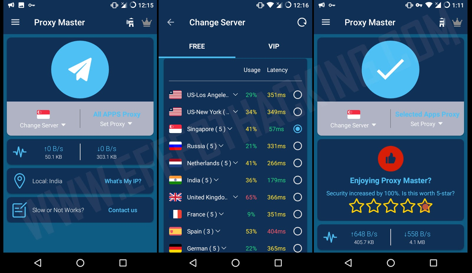 Free VPN Unlimited Proxy - Proxy Master Screenshots