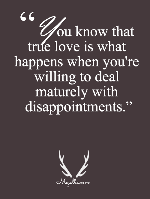 Maturely Dealing With Dissapointments