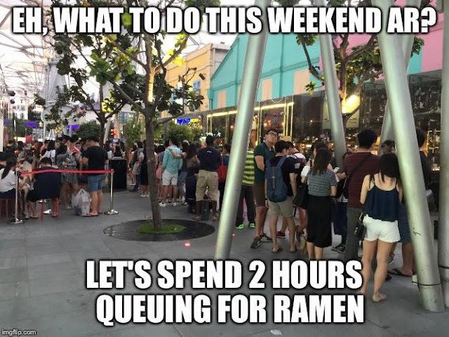 Singapore queuing meme