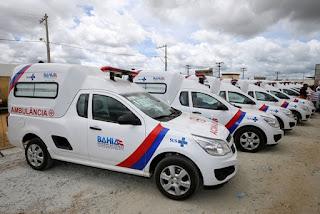 entrega de nove ambulâncias