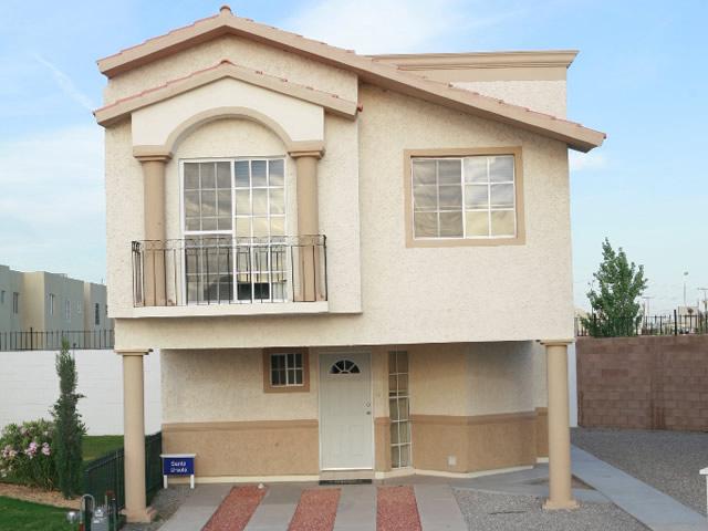 Casas en venta y departamentos casa muestra modelo santa for Fachadas de casas modernas de interes social