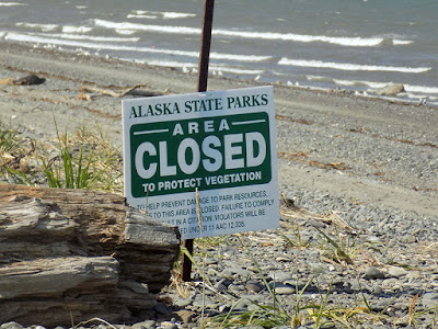 Beach Area Closed to Protect Vegetation