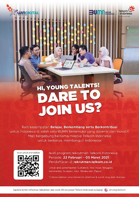Rekrutmen Telkom Fresh Graduate 2021