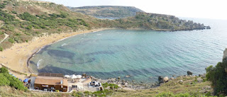 Ghajn Tuffieha Bay, Malta.