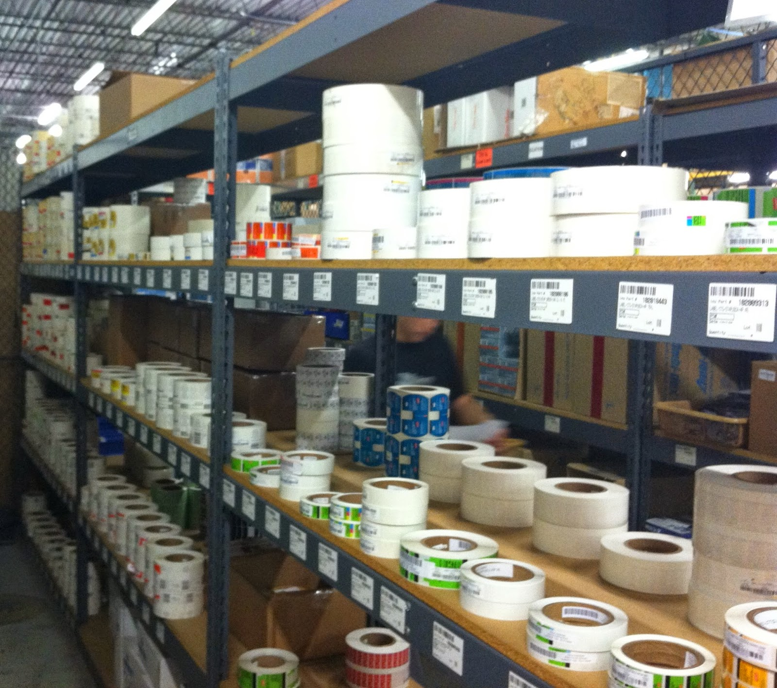 Preprinted Label Inventory