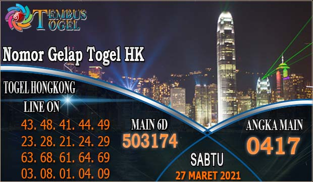 Togel Hongkong Nomor Gelap - Sabtu Tanggal 27 Maret 2021