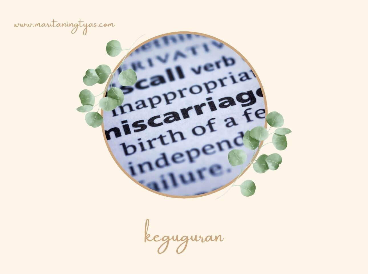 tanda-tanda keguguran pada kehamilan awal