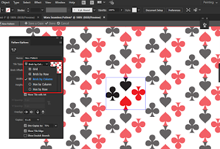 Pilihan model pattern di Adobe Illustrator